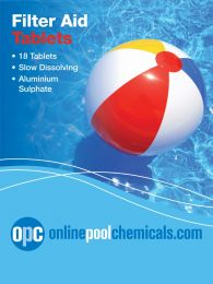 OPC Filter Aid Tablets - Swimming Pool Clarifier/Floc/Sparkle - 18 Tablets