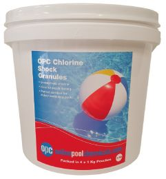 OPC Chlorine Shock Granules 4Kg (packed in 4 x 1Kg pouches)