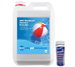 opc stabilised chlorine granules and