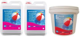 OPC Large Summer Pool Kit - Copper Based Algaecide and Chlorine Shock Granules