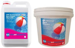OPC Small Summer Pool Kit - Non-Copper Algaecide and Chlorine Shock Granules