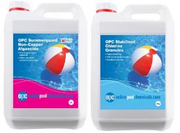 OPC Stabilised Chlorine Granules 5Kg & OPC Summerguard Non-Copper Algaecide 5L