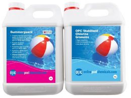 OPC Stabilised Chlorine Granules 5Kg & Summerguard Copper Based Algaecide 5L