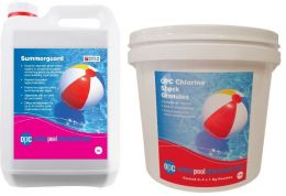 OPC Small Summer Pool Kit - Copper Algaecide and Chlorine Shock Granules