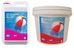 OPC Small Winter Pool Kit - Non-Copper Algaecide and Chlorine Shock Granules