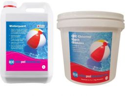OPC Small Winter Pool Kit - Copper Based Algaecide and Chlorine Shock Granules