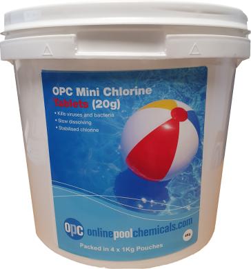 OPC mini chlorine tablets 20g 4Kg