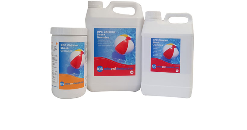 Collection of Chlorine Shock Products